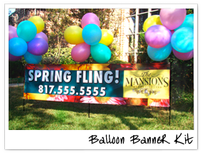 Balloon Banner Kit