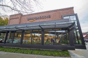 Seattle, Washington, USA - November 26, 2016: Amazon Books Physical Bookstore Location by Amazon.com
