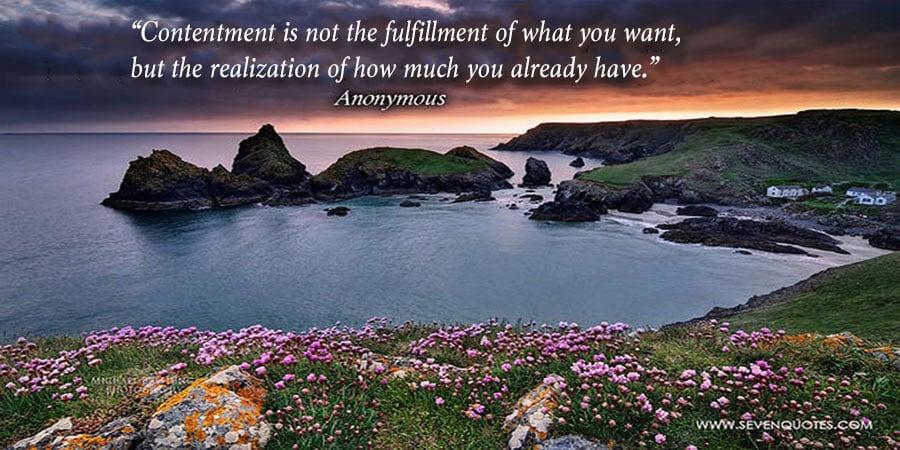 Contentment is the Secret