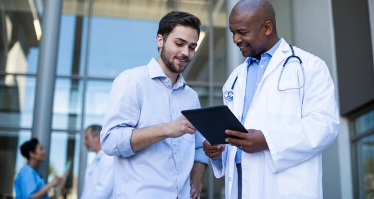 Man talking to a doctor about erectile dysfunction