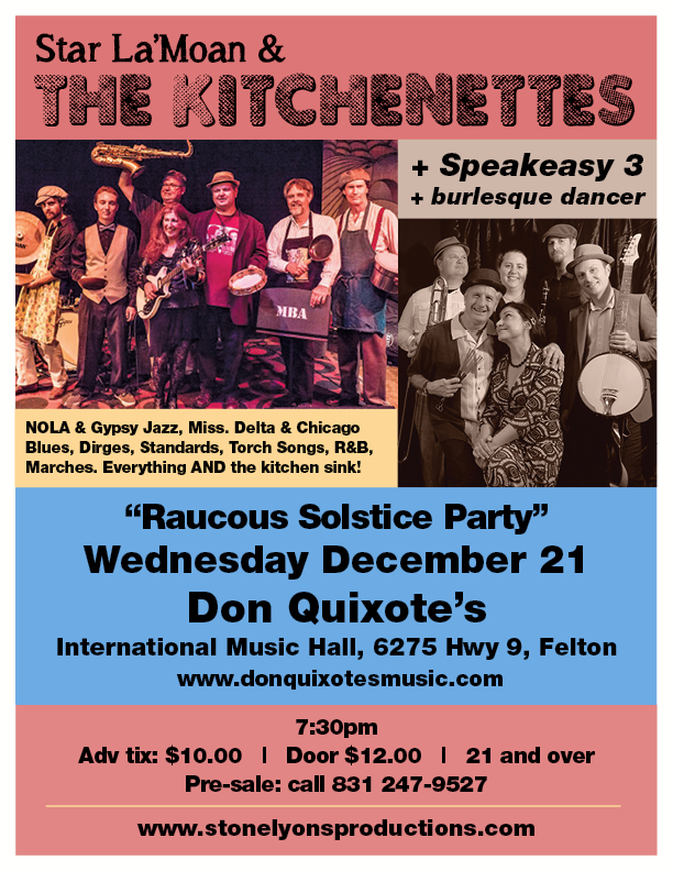 The Kitchenettes Poster Don Quixotes 12/21/16