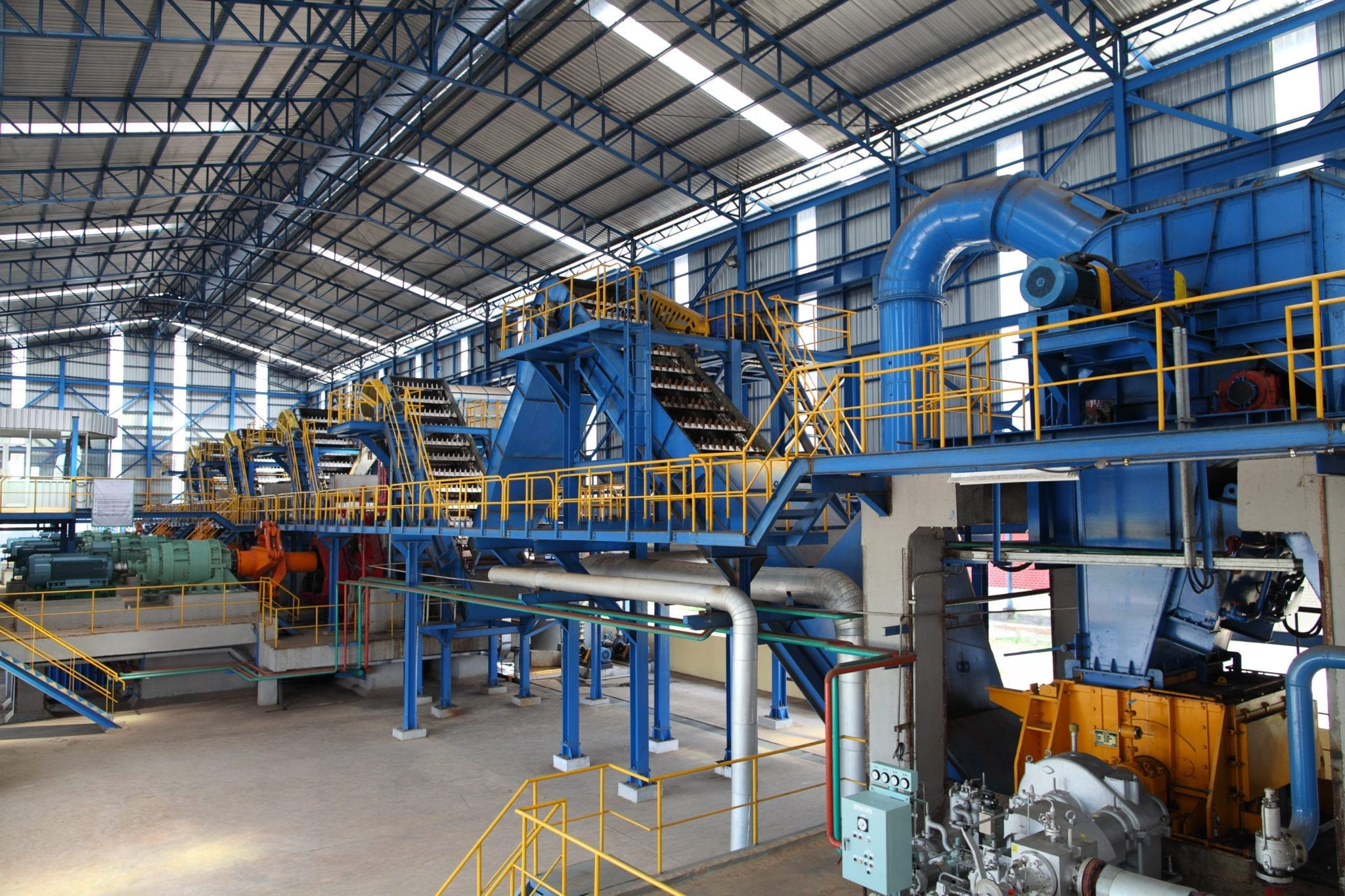 industrial pipes and sugar milling equipment