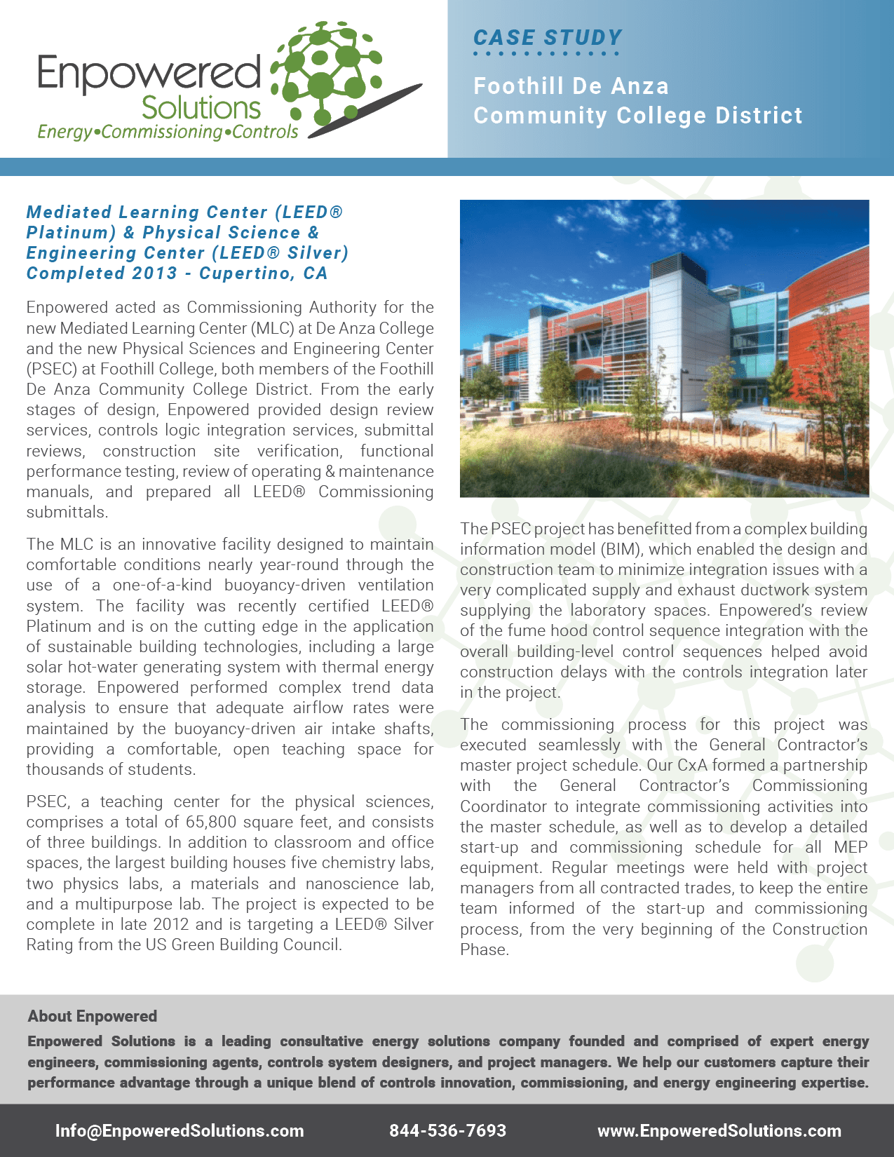Preview of Enpowered Solutions Case Study - Foothill De Anza Community College