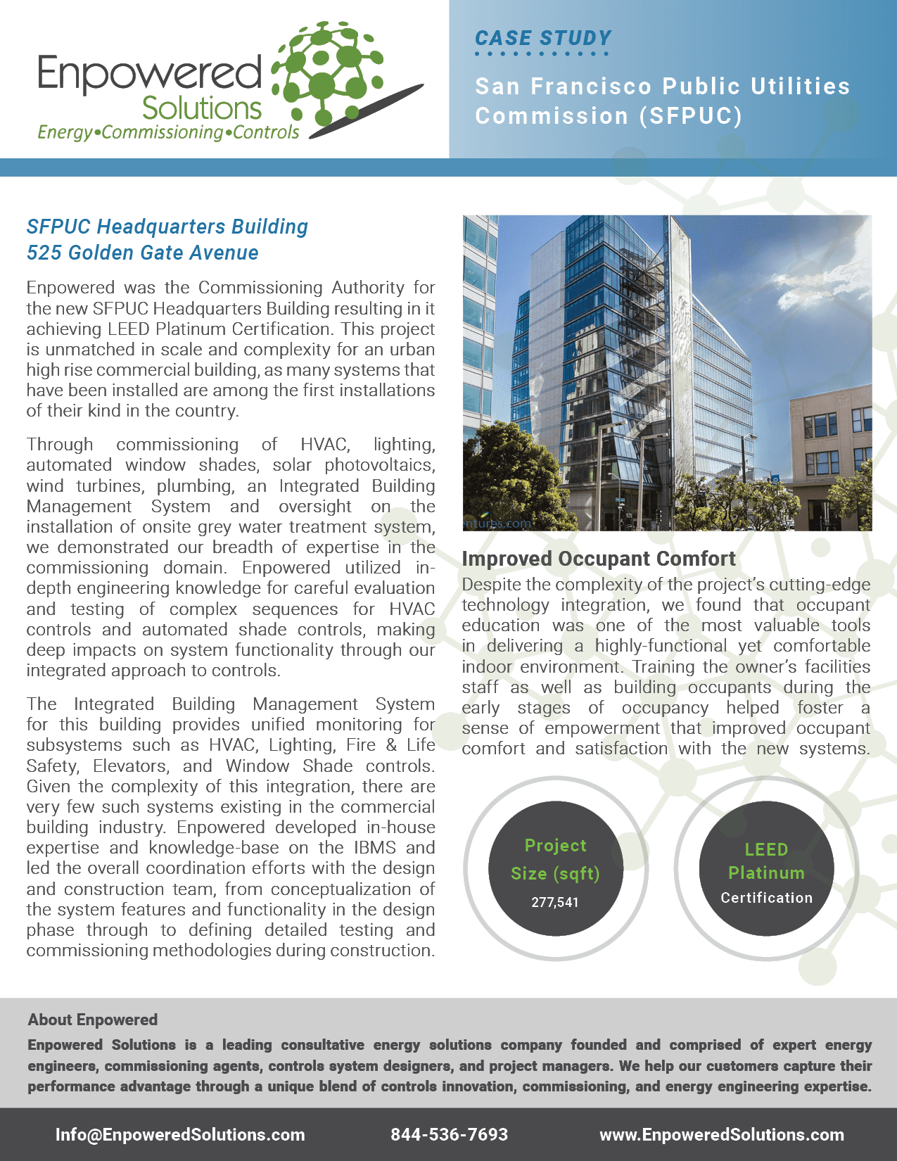 Preview of Enpowered Solutions Case Study - San Francisco Public Utilities Commission Headquarters