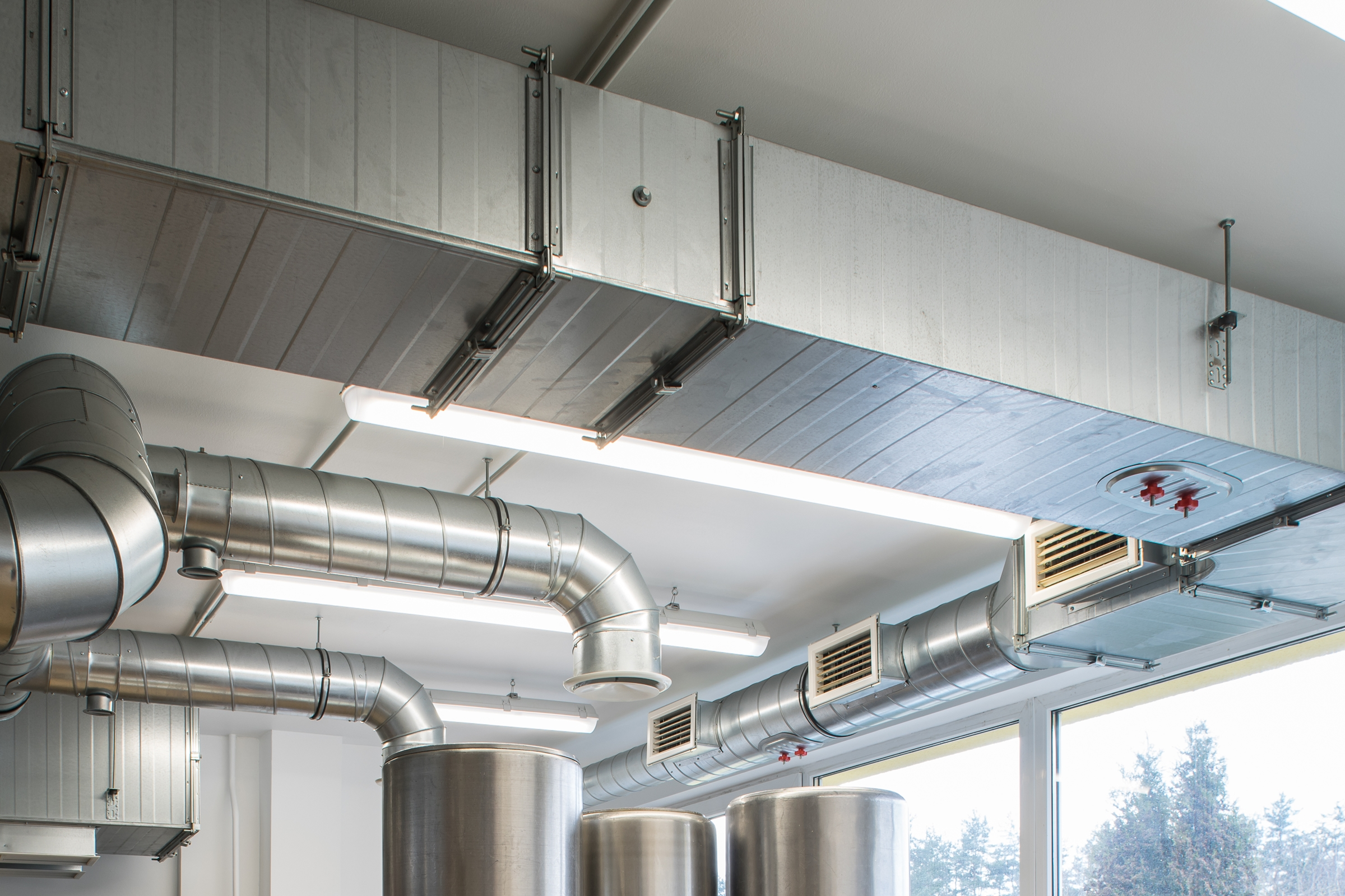 HVAC units integrated into a PLC-based Energy Management System