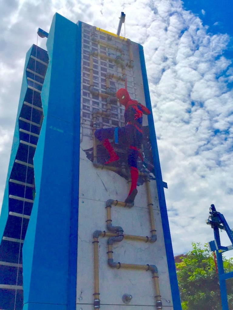 Spider-Man on Ninja Tower