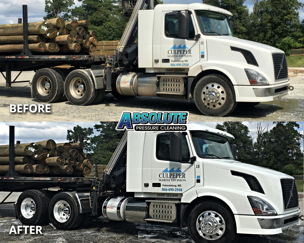logger-truck-fleet-washing-before-after-delmarva-md-de
