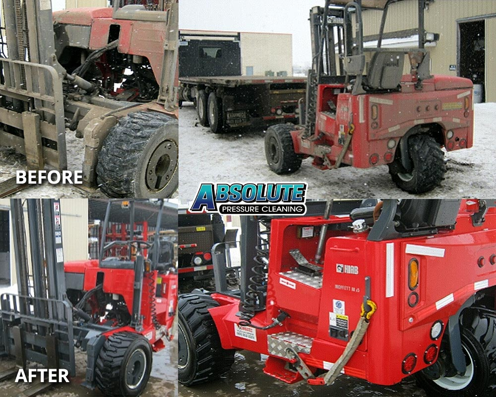 forklift-fleet-washing-before-after-delmarva-md-de