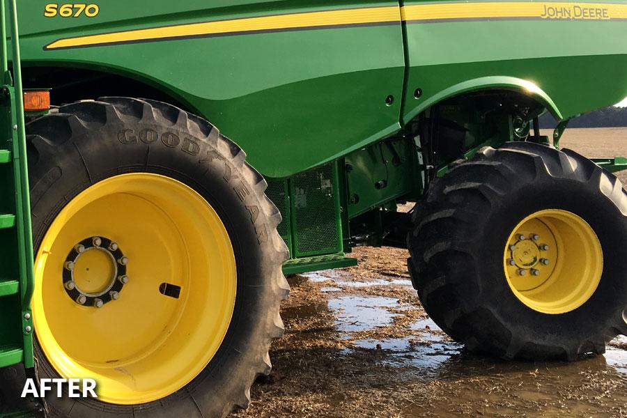 farm-equipment-wheel-tire-washing-after-delmarva-md-de