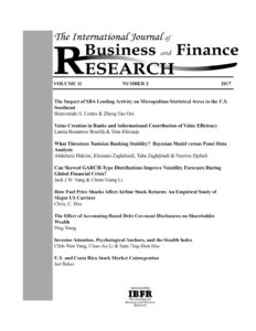International Journal of Business and Finance Research (IJBFR)