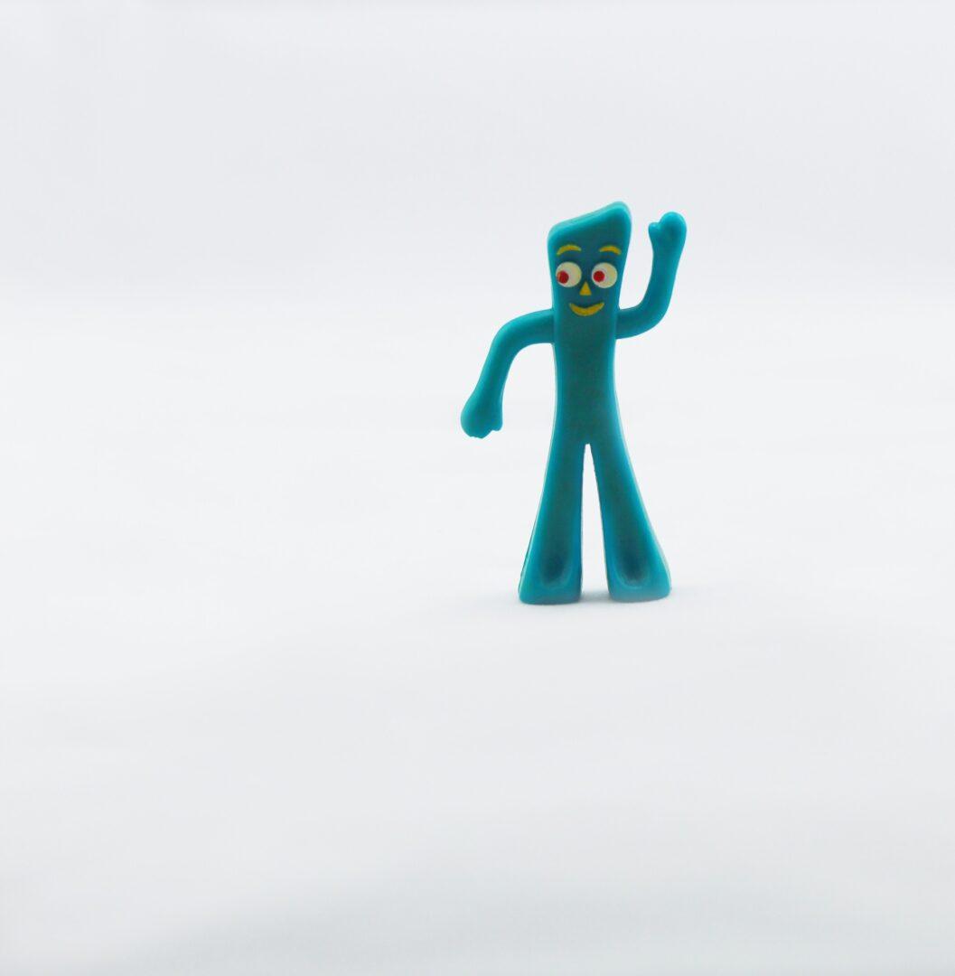 Gumby waving hi