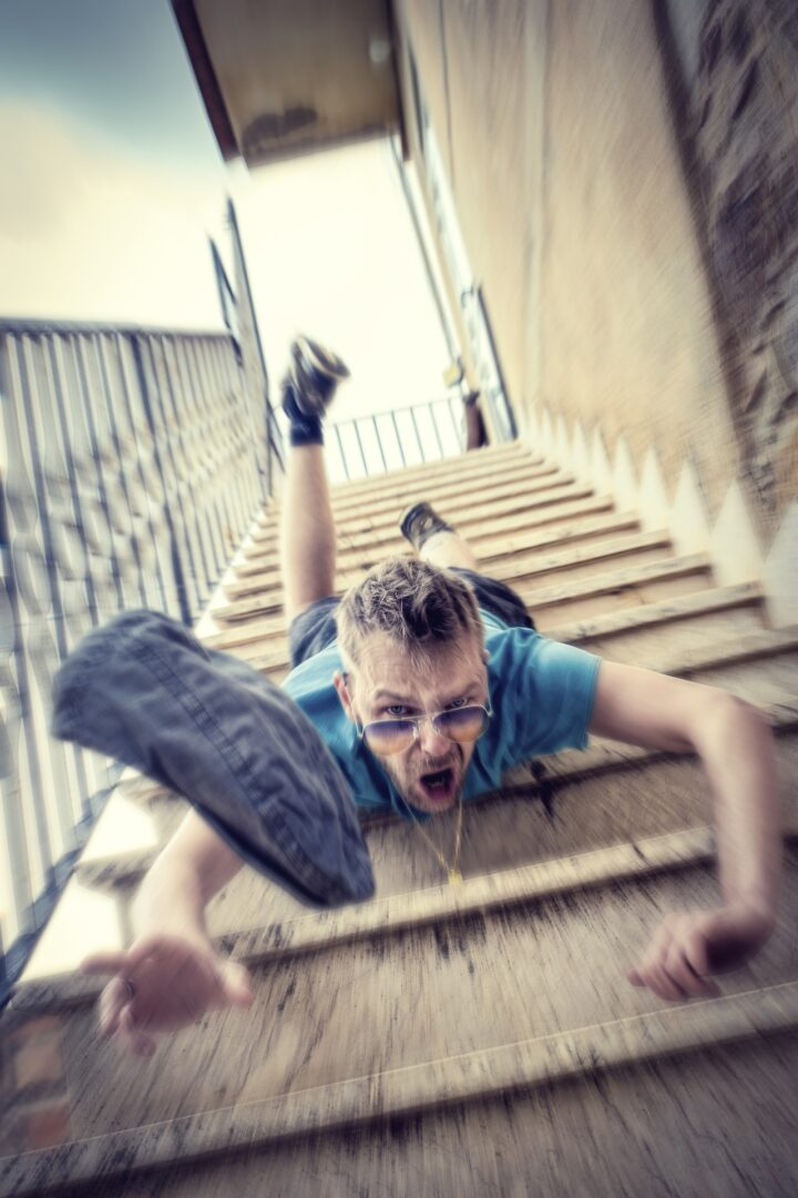 Man Falling Down a Step