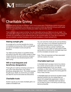 Charitable Giving Guide