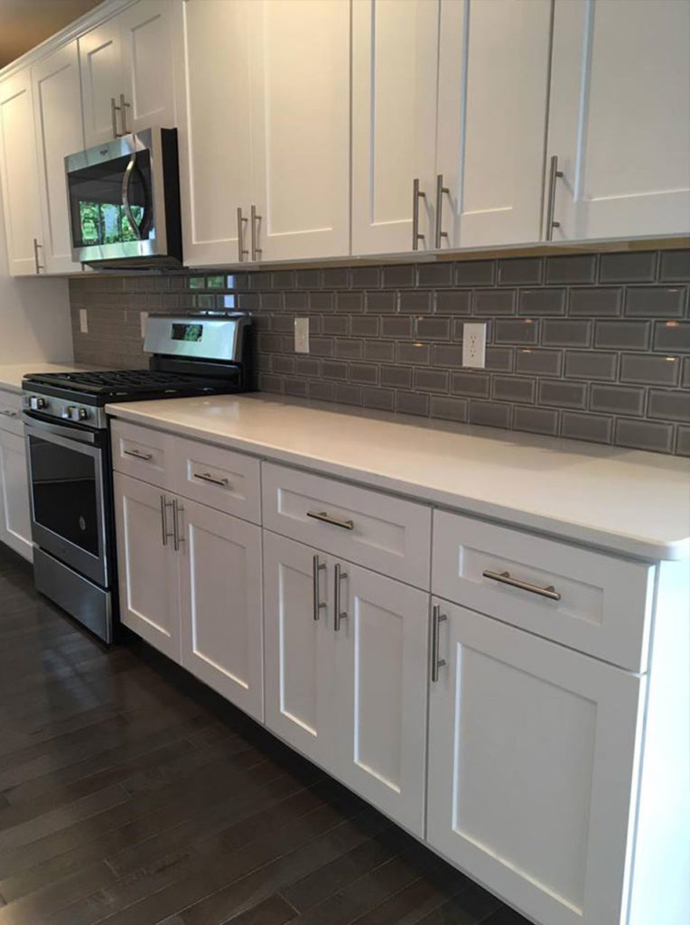 Custom Kitchen backsplash, counters cabinets and floor