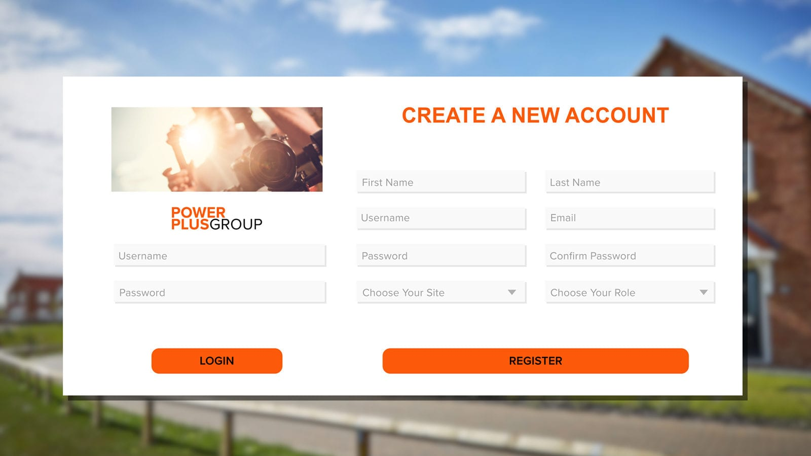 Site induction software portal screenshot