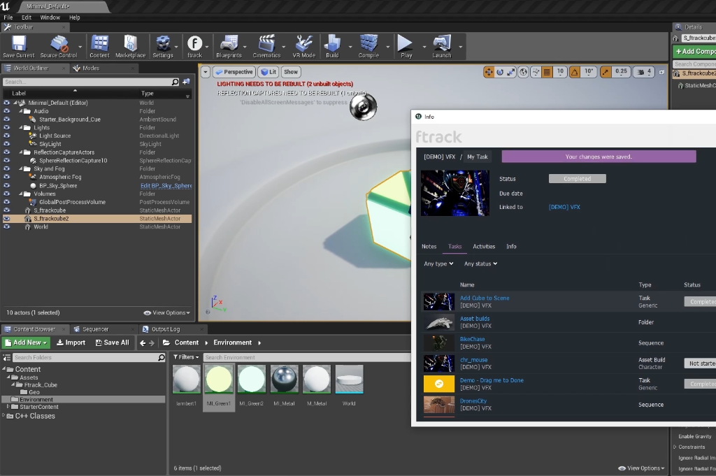ftrack Integrations for Unreal Engine & Unity