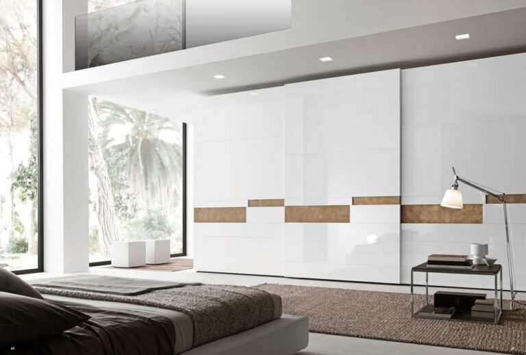 Presotto Tecnopolis wardrobe with Inset handles in leather
