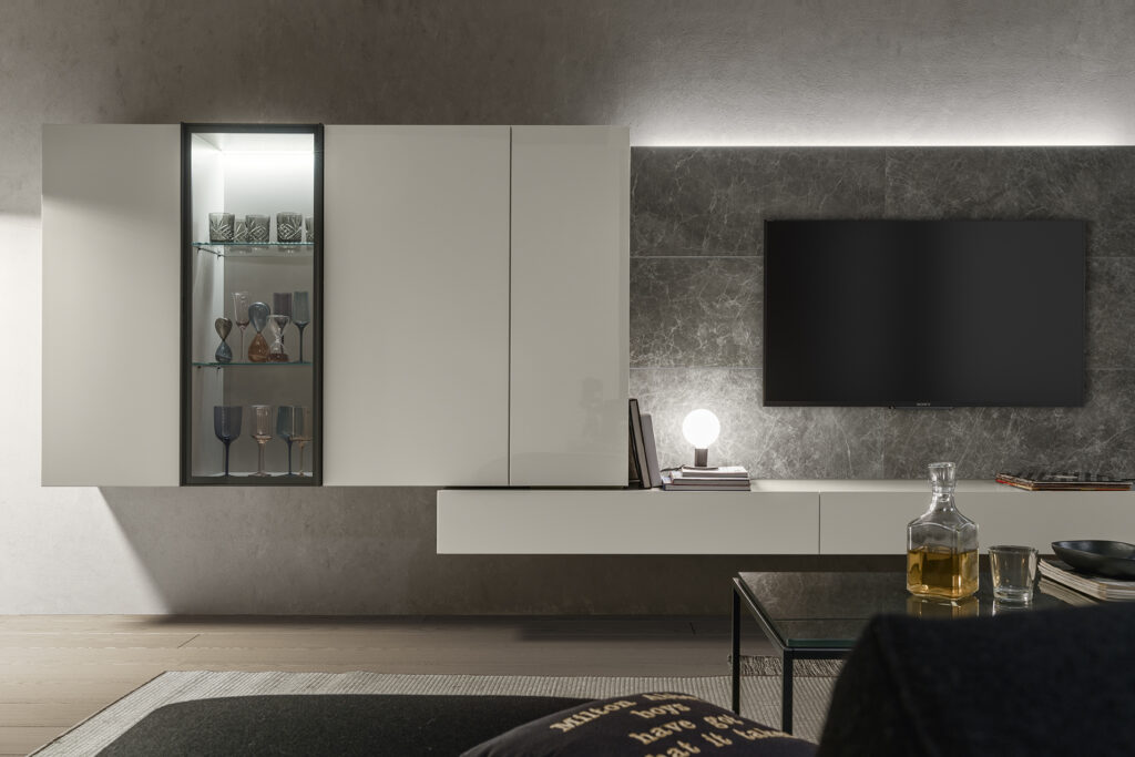 Presotto wall system media center