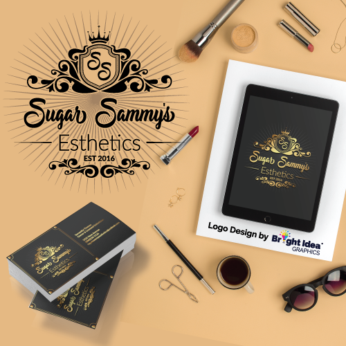 Bright-idea-graphics-logodesign-sugar-sammys-esthetics