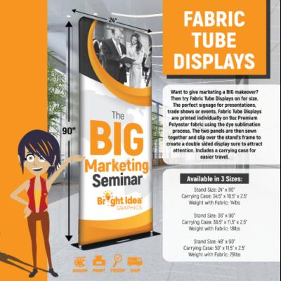 bright idea graphics tube display design and print