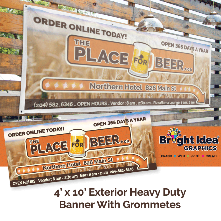 The_Place_for_beer_exterior_banner_bright_idea_graphics.png