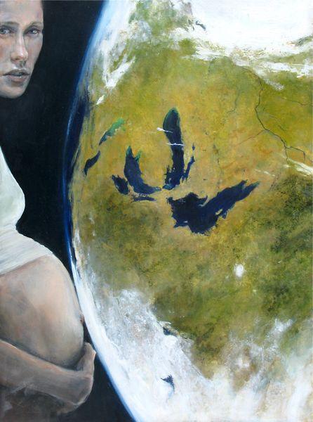 "Judith Peck, ""Complications,"" 24x18, Oil on birch"