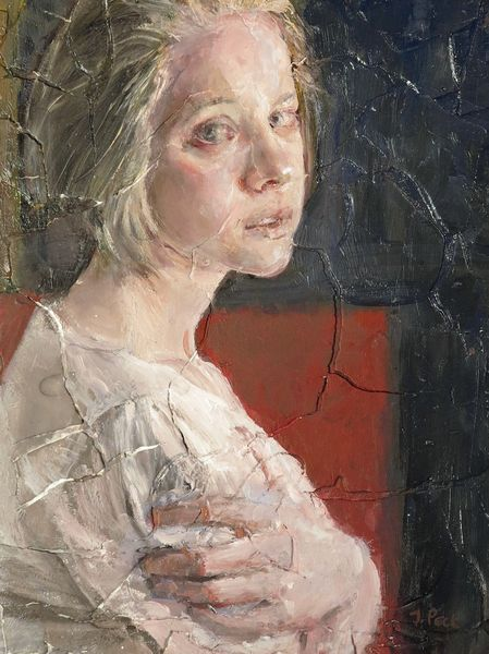 "Judith Peck, ""Spring Hesitates,"" 12x9, Oil and plaster on birch"