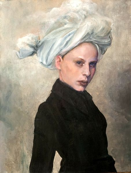 "Judith Peck, ""Veiled Conscience,"" 24x18, Oil on linen"