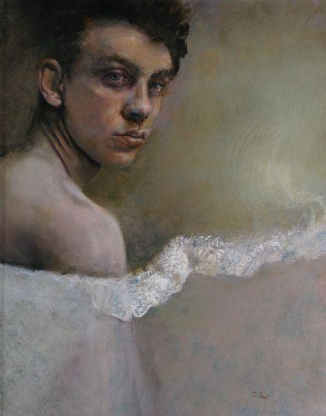 """Judith Peck, """"Veiled Gender,"""" 20x16, Oil on linen"""