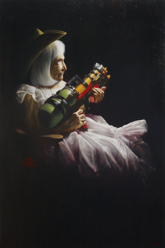 """Rockabye Baby,"" Jason Bard Yarmosky, oil on linen 60""x40"" private collection"