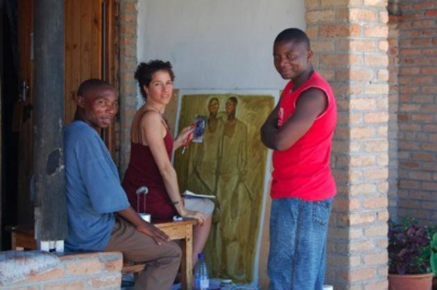 Olivia Pendergast & village artists