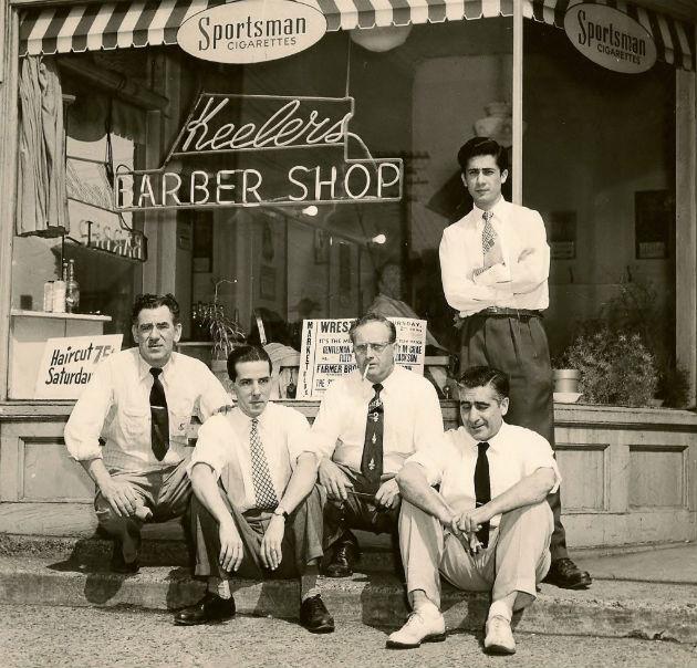 Salvatore Ala's Father at barbershop