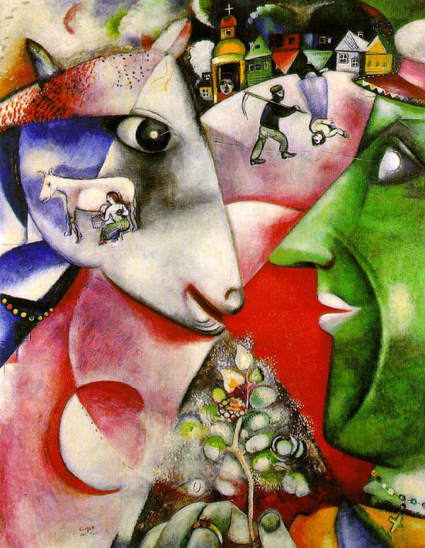I and the Village, Marc Chagall, (1911) - Museum of Modern Art New York