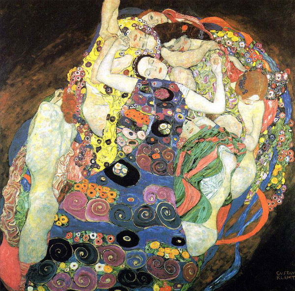 The Virgin, Gustav Klimt, (1913) - National Gallery Prague