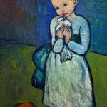 Child with a Dove, by Pablo Picasso, 1901, Courtauld Galleries, Somerset House, London, England, UK, United Kingdom, GB, Great B