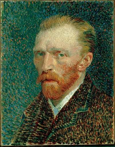 Vincent van Gogh's Self-Portrait is an oil on artist's board mounted onVincent van Gogh's Self-Portrait is an oil on artist's board mounted on cradled panel (16-1/4 x 12-3/4 inches) that is housed in the Art Institute of Chicago.