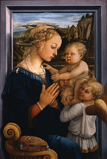 Madonna with Child (Madonna col Bambino e angeli or Lippina), by Italian Renaissance artist, Filippo Lippi, executed around 1465
