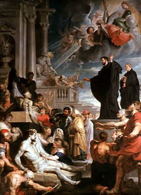 he Miracles of Saint Francis Xavier, Peter Paul Rubens,Peter Paul, oil on canvas (1617-1618) 535 x 395 cm Inv. 519 Kunsthistorisches Museum, Gemaeldegalerie, Vienna, Austria