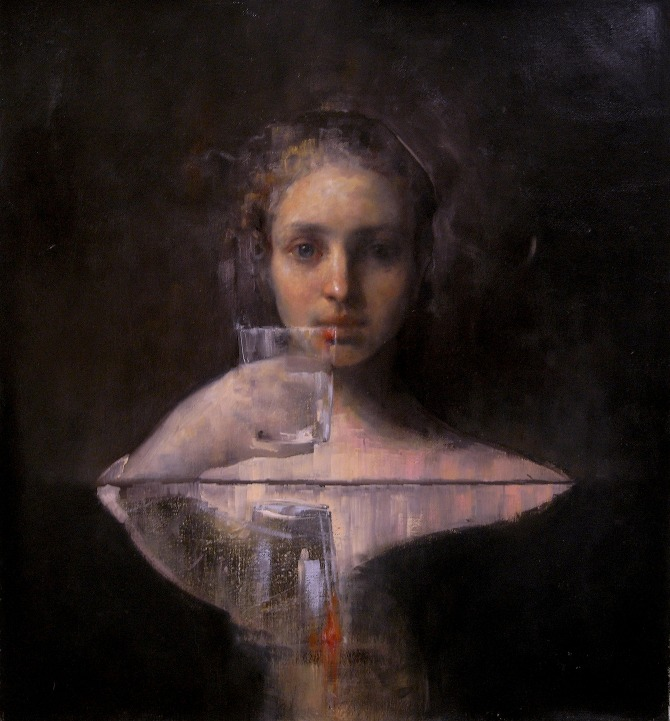 Event Horizon | 24 x 24 inches | oil on canvas | private collection | Maria Kreyn