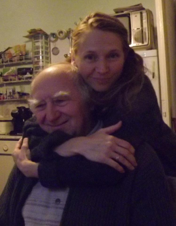 Kriszti VanSlyke with her father