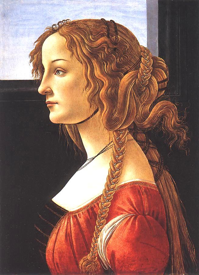 Portrait of a Young Woman - Sandro Botticelli