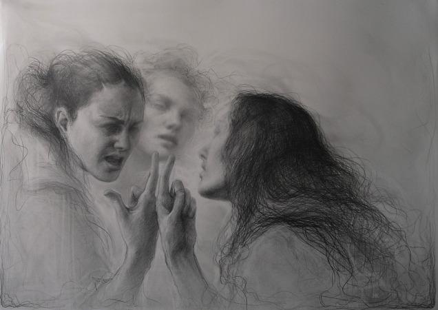 Wind | graphite | Maria Kreyn