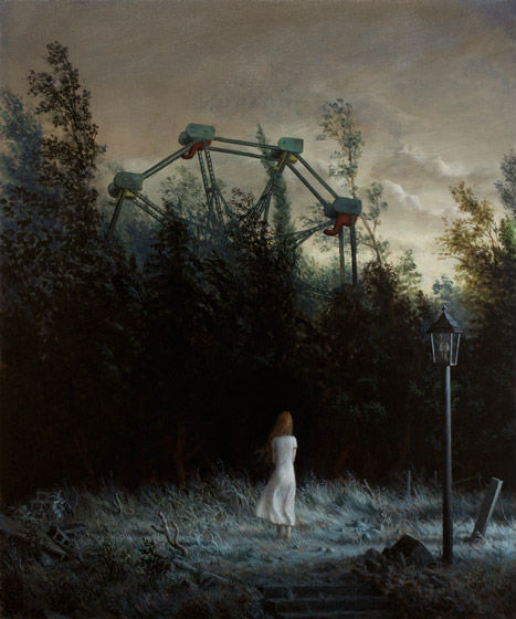 The Garden | oil on canvas | 36 x 30 inches | 2012 | Aron Wiesenfeld