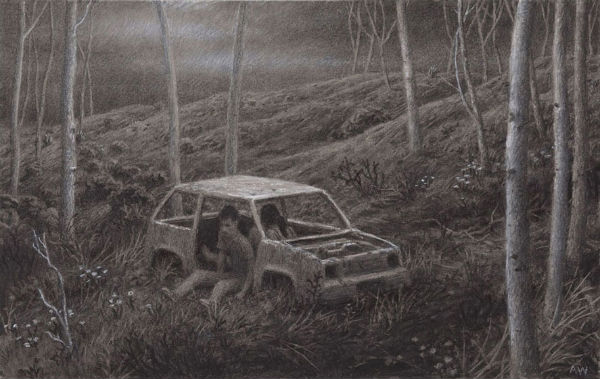 The Remains  | charcoal on paper | Aron Wiesenfeld