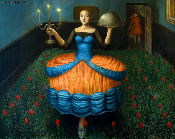 Food for Thought | oil on canvas | 122x155cm | 1999 | Mike Worrall