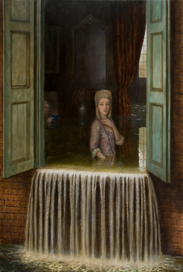 A Period Drama | oil on canvas | 123x183cm | 2010 | Mike Worrall