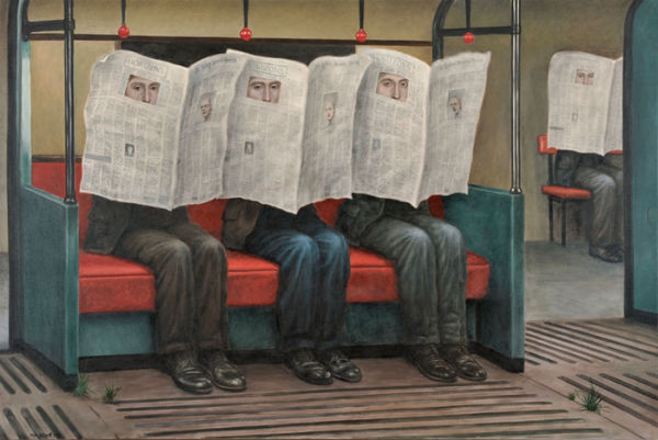 Seekers of the Truth | oil on canvas | 122x183cm | 2009 | Mike Worrall