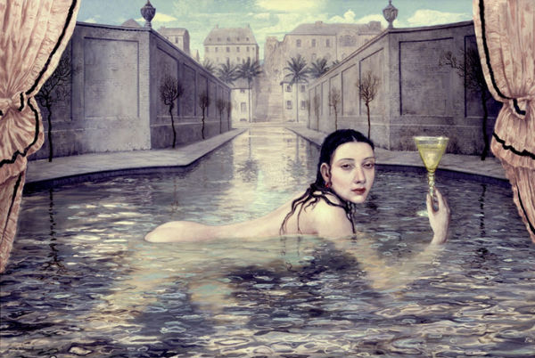 The Bather | oil on linen | 111x166cm | 2004 | Mike Worrall