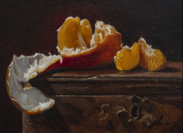 "Sharky's Mandarin - Leather Box | Michael Lynn Adams | 9"" x 12"" 
