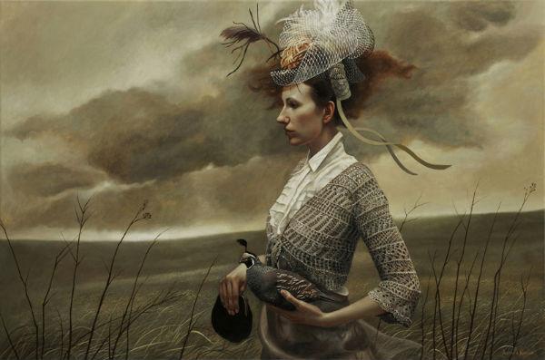 Her Fancy | 24x36 | acrylic-on-canvas | Andrea Kowch
